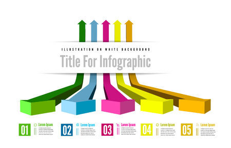 Infographic options with color arrow. Vector illustration Vector