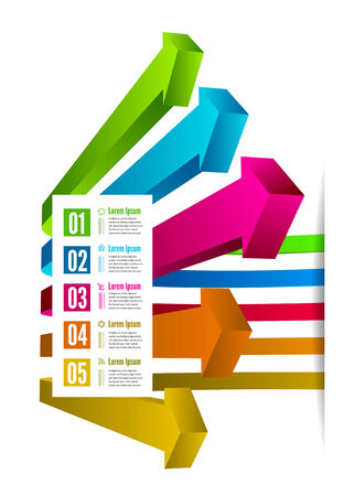 Infographic options with color arrow. illustration Vector