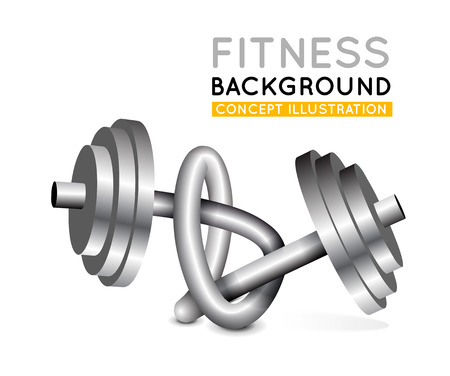 Weights twisted in a knot. Cocnept vector illustration Vector