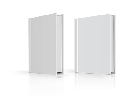 noname: Blank book cover over white background. Vector illustration