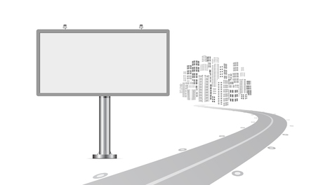 Billboard with urban horizon vector background Vector