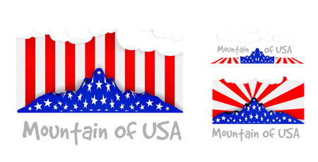 American mountain as the United States flag  Vector illustartion Vector