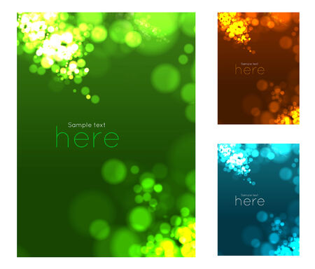 Abstract circular bokeh background. Vector illustration set Vector