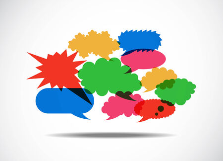 Talk Balloon Abstrac. Vector illustration on white Vector