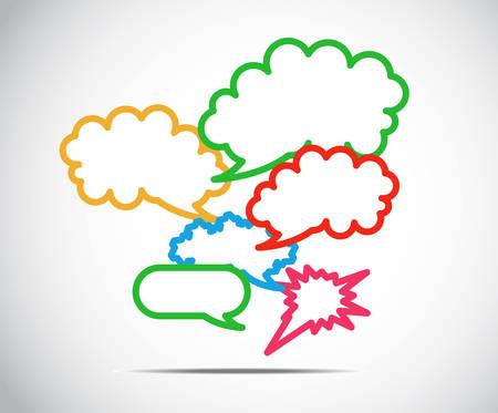 tweet balloon: Talk Balloon Abstract. Vector illustration on white