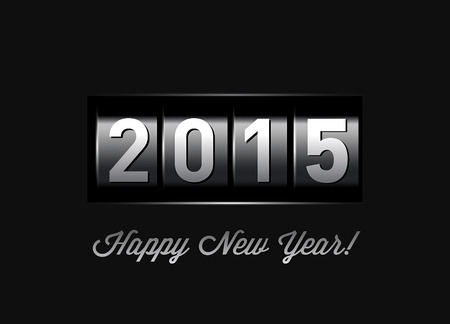 New Year counter 2015.  Vector