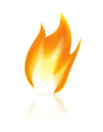 Fire icon on white background. Vector illustration Vector