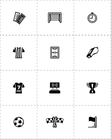 Soccer icon set. Vector illustration on white Vector
