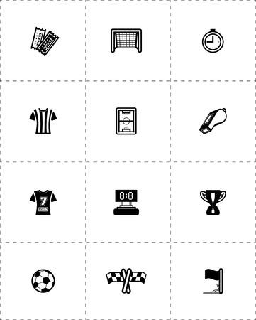 Soccer icon set. Vector illustration on white Stock Vector - 27951740