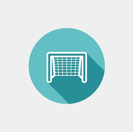 Soccer goal flat icon. Vector on grey background Vector