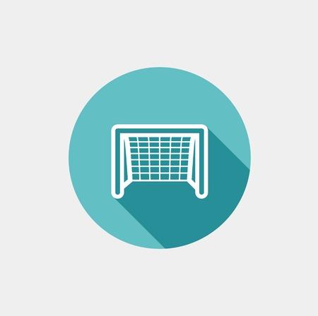 football net: Soccer goal flat icon. Vector on grey background Illustration