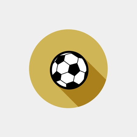 Vector soccer ball icon flat modern icon on grey background Vector