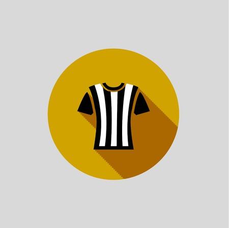 mediateur: Arbitre de football T-shirt blanc sur fond gris. Vecteur
