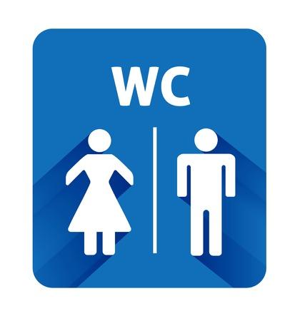 Male and Female illustartion on blue background Vector