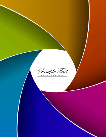 abstract color aperture blades background and space for sample text. vector Vector