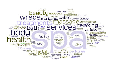 Spa word cloud vector illustration on white Stock Vector - 28129918