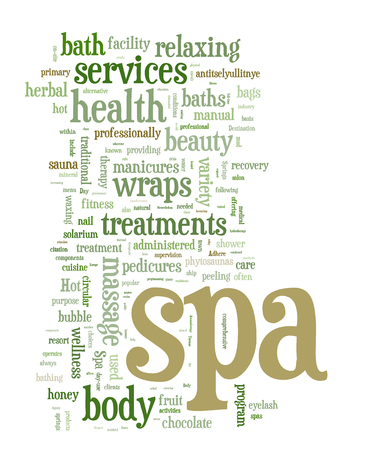 Spa word cloud vector illustration on white Stock Vector - 28129923