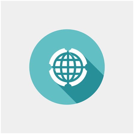 Globe Icon vector illustration. Flat design style Vector