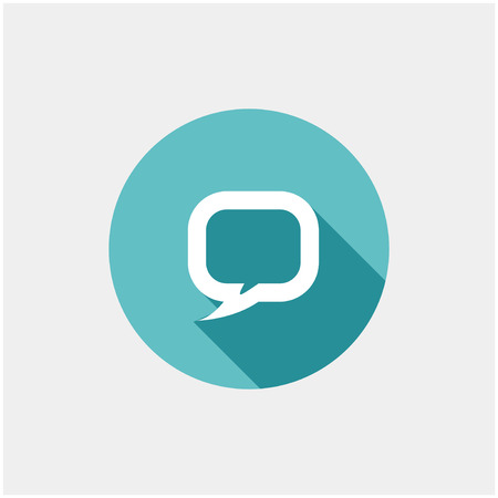 comments: Flat long shadow icon of dialog