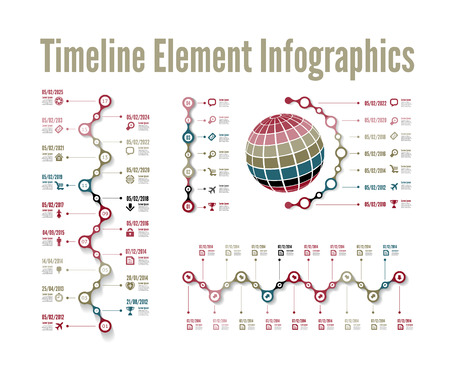 Timeline element vector infographic on white background Vector