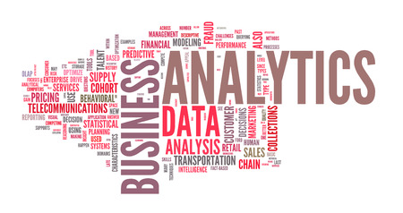 Background concept illustration of analytics business analysis. Vector Vector