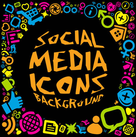 Social media icon background  Vector