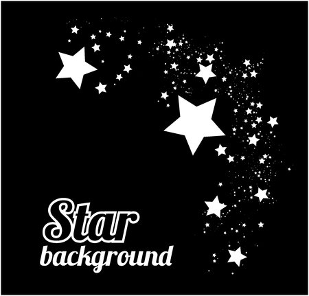 Star abstract background vector illustration on black Vector