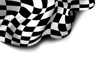 finishing line: checkered race flag. Racing flags.