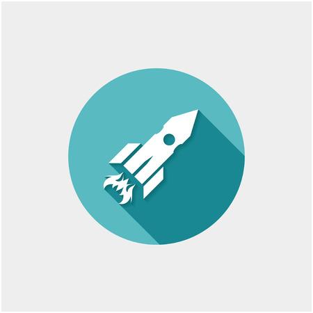 satellite launch: Rocket icon.
