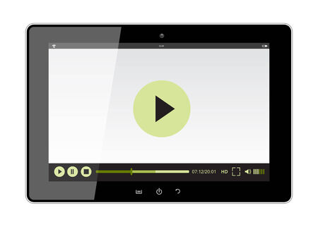 tablet design with web player over white background vector illustration Vector