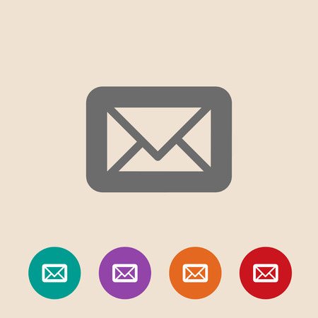 Envelope flat icon. Vector illustration on background Vector