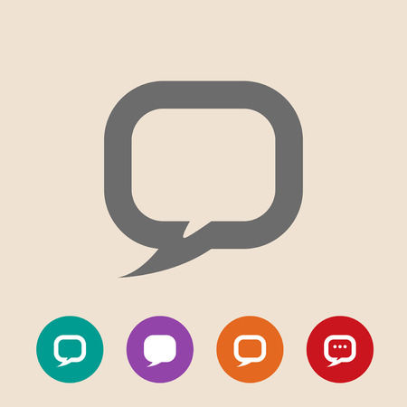tell stories: Flat icon of dialog. Speech bubble Illustration
