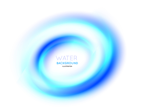 water vortex: Abstract circle bright background Vector illustration on white