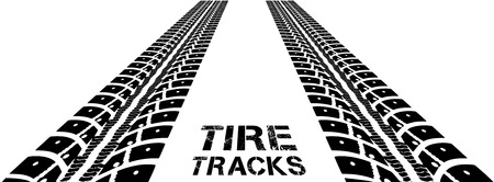 tyre tread: Tire tracks. Vector illustration on white background Illustration