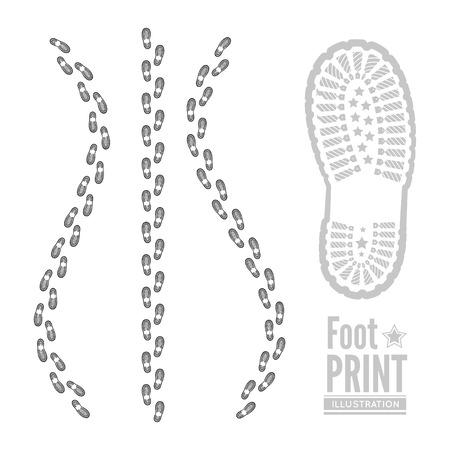 shoeprint: Shoe print  Illustration