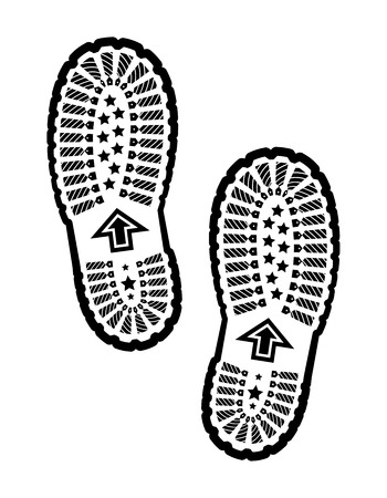 shoe print: Shoe print  Illustration