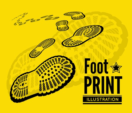 treads: Shoe print  Illustration