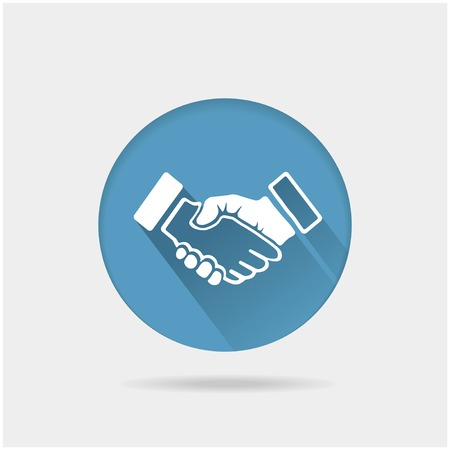 Handshake illustration Vector