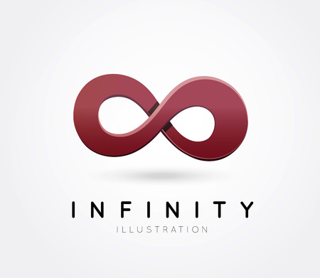 infinity icon: The symbol of infinity Illustration
