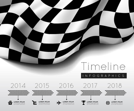 time line: Checkered flag Illustration