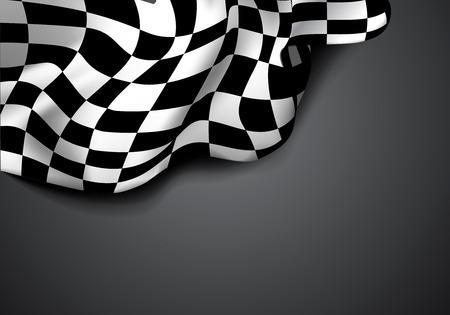checkered flag: Checkered flag Illustration