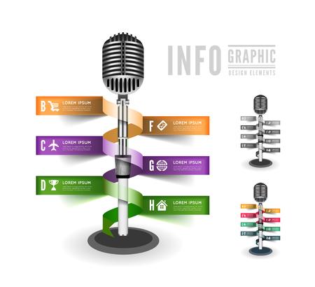 Standing microphone Illustration