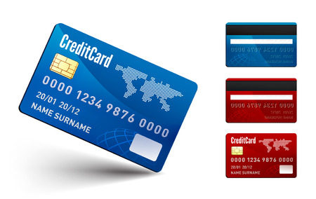 Realistic vector Credit Card two sides Vector