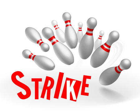 spare: Strike bowling Stock Photo