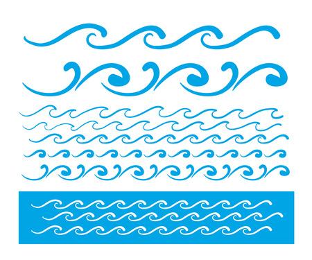 oceanic: Seamless vector blue wave line pattern