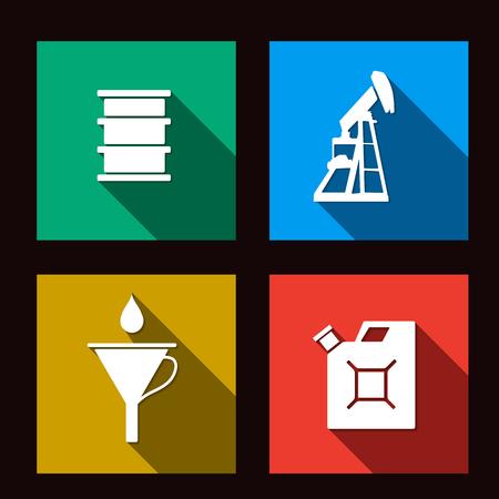 fuel set icons illustration Vector