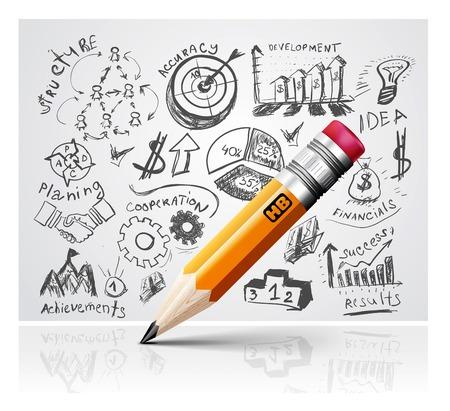 Creative pencil idea  Vector
