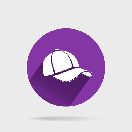 peak hat: Baseball Cap Illustration