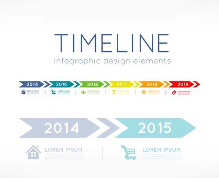 Infografía Cronología Ilustración de vector