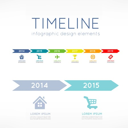 chronology: Timeline infographic
